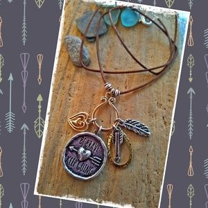 💜BOHO BE BRAVE KEEP GOING QUOTE NECKLACE💜